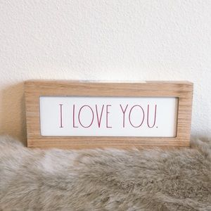 Rae Dunn I LOVE YOU sign new